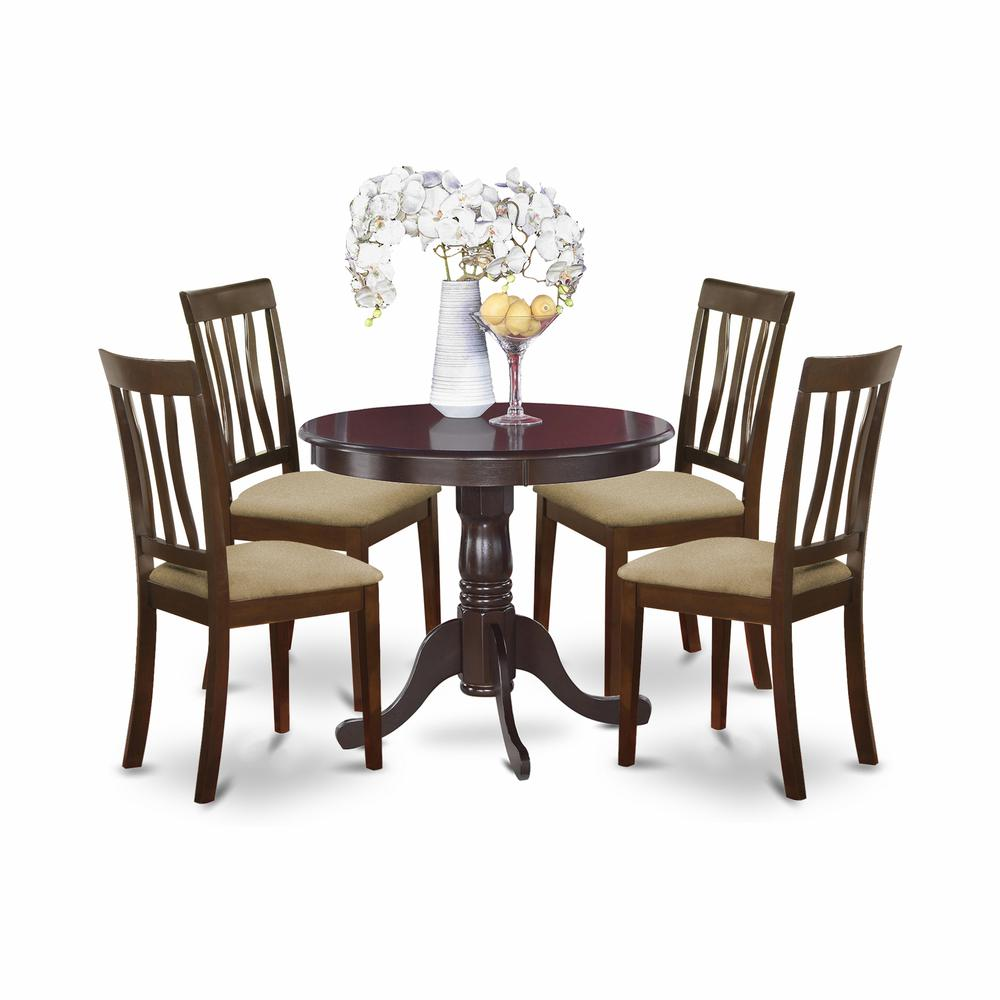 5 pc kitchen table set kitchen table and 4 dining chairs for Kitchen table set 4