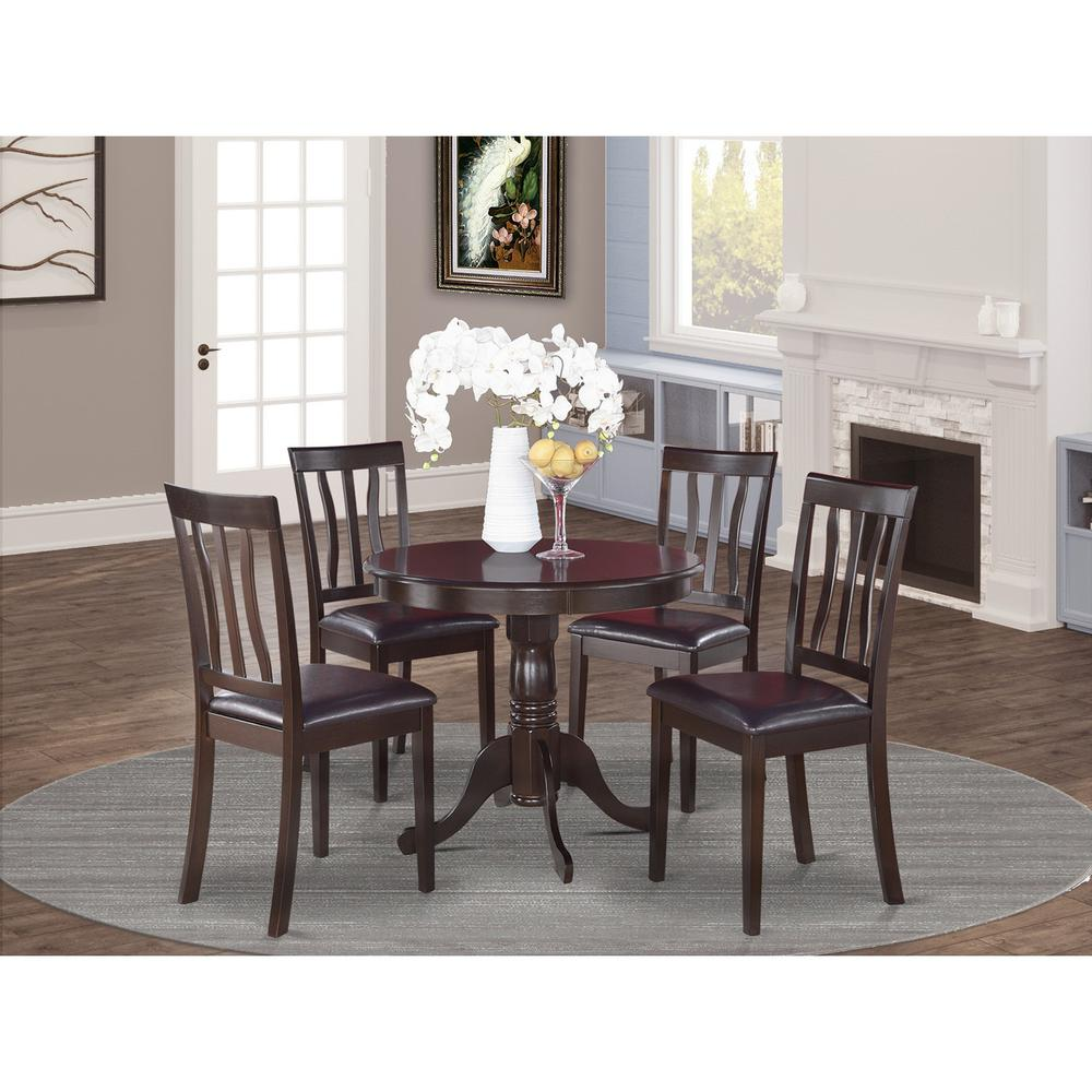 5 pc kitchen table set kitchen table and 4 dining chairs. Black Bedroom Furniture Sets. Home Design Ideas