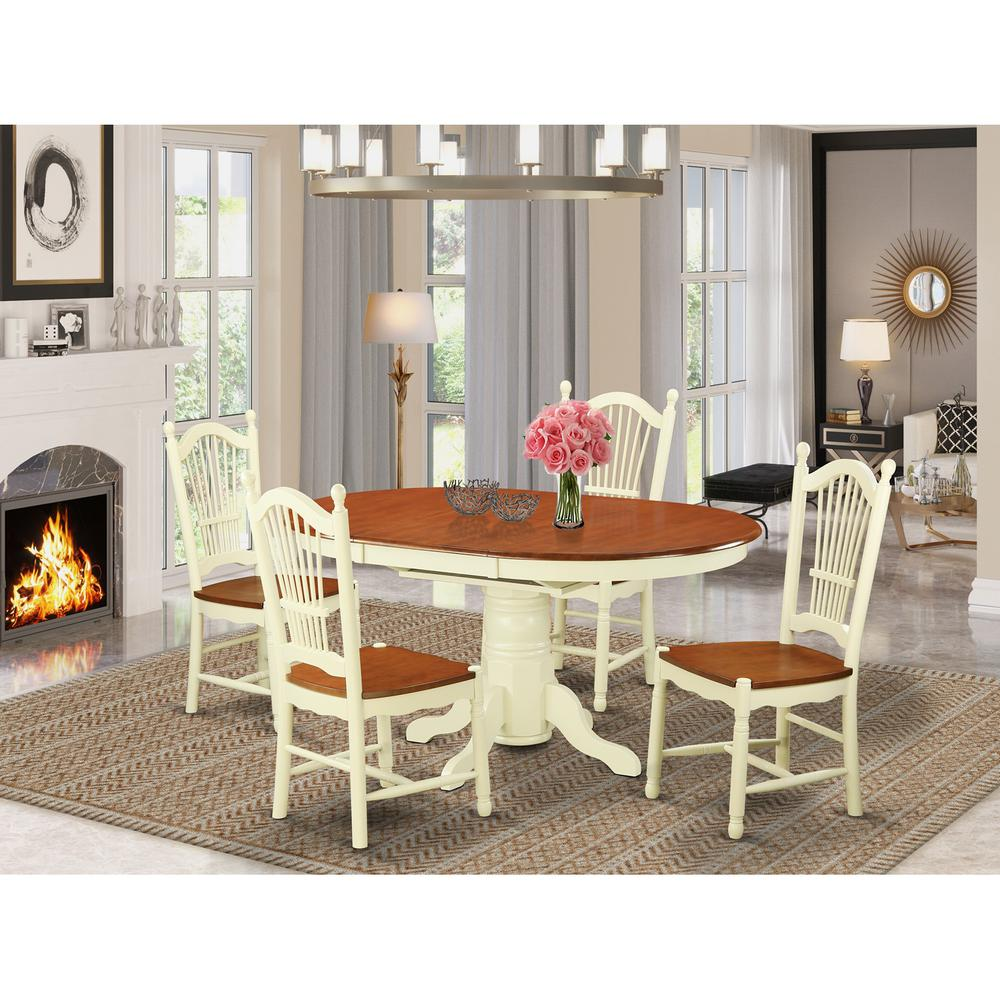 5  Pc  Dining  room  set  -Kitchen  dinette  Table  and  4  Dining  Chairs. Picture 1
