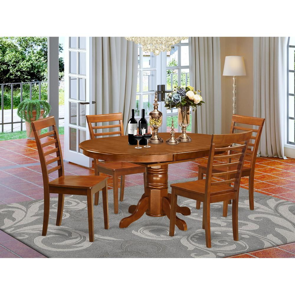 5 pc dining room set for 4 table with leaf and 4 dining chairs for Hgg 5pc drop leaf kitchen dining table set