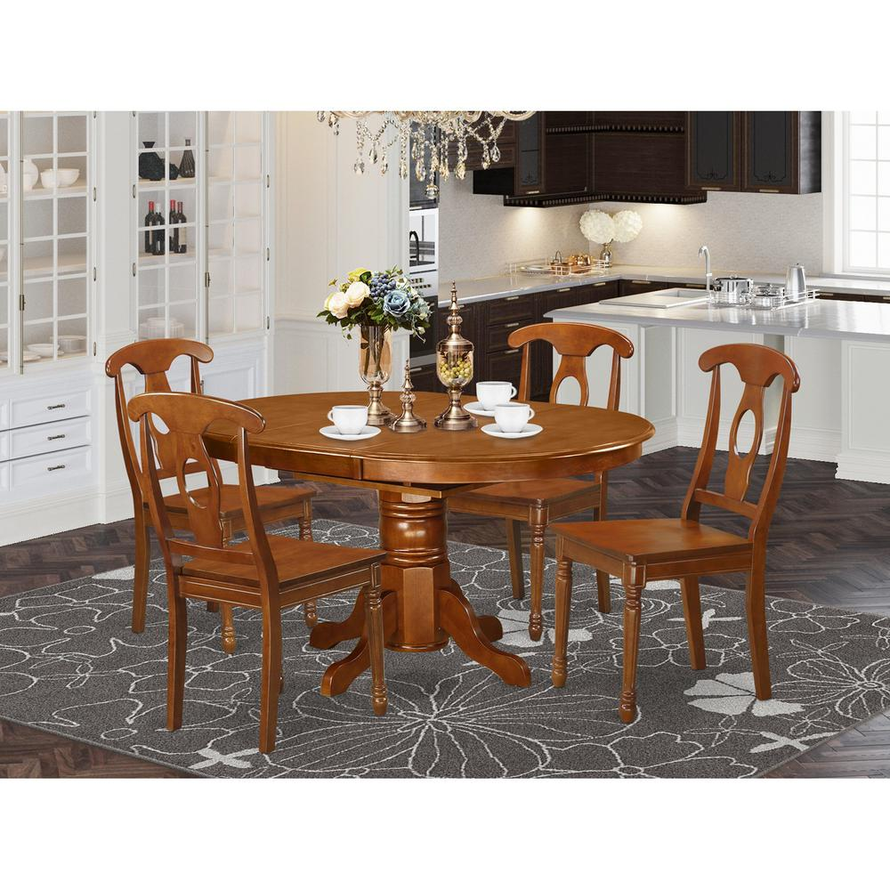 5  Pc  Dining  room  set-Table  with  Leaf  and  4  Dining  Chairs. Picture 1