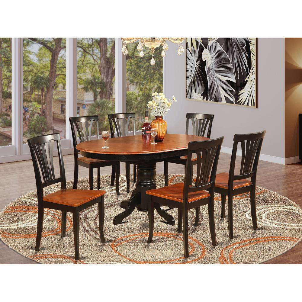 Oval Dining Room Table Sets: 7 Pc Dining Room Set-Oval Table With Leaf And 6 Dining Chairs
