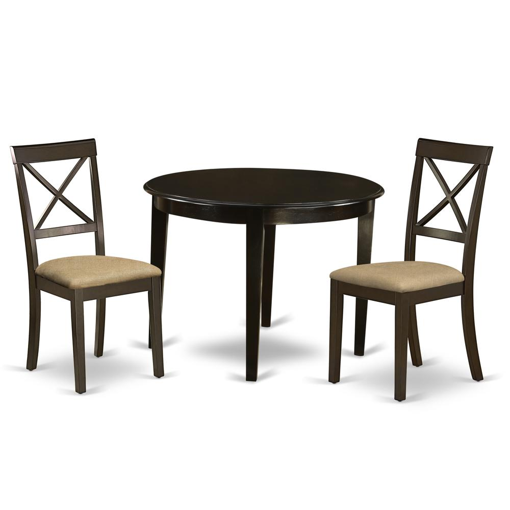 3 pc small kitchen table set round table and 2 dining chairs. Black Bedroom Furniture Sets. Home Design Ideas