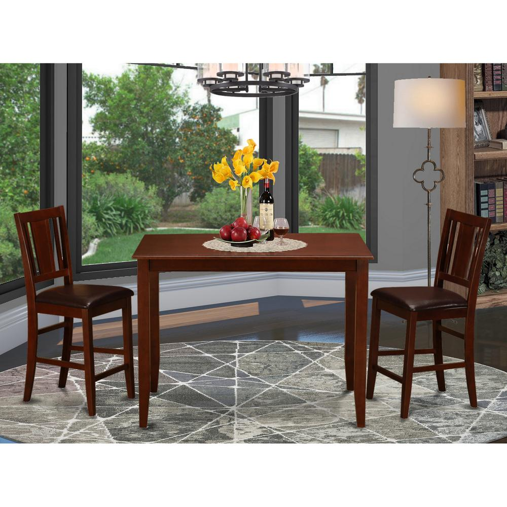 3 Pc Counter Height Table Set Counter Height Table And 2