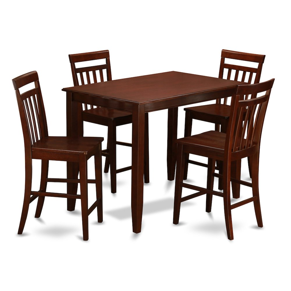 """30x48/"""" BUCKLAND COUNTER HEIGHT KITCHEN TABLE WITHOUT CHAIR IN MAHOGANY FINISH"""