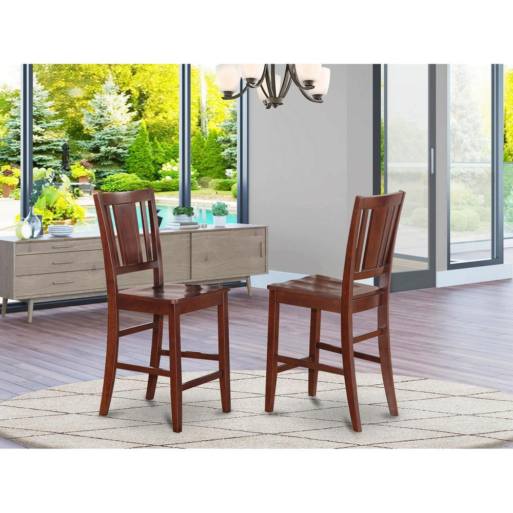 Buckland Counter Height Dining Room Chair With Wood Seat