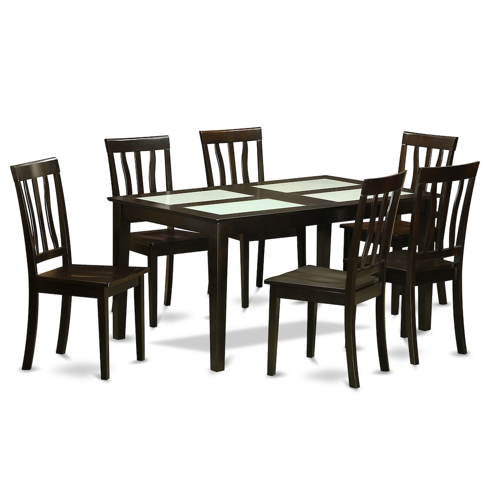 52 Kitchen Tables And Chairs Sets 7 Pc Dining Room: 7 PC Formal Dining Room Set- Dinette Glass Top Table And 6