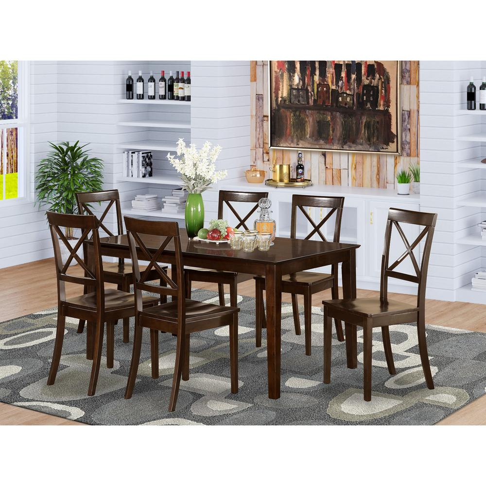 7 Pc Dining Room Sets: Table And 6 Formal Dining Chairs