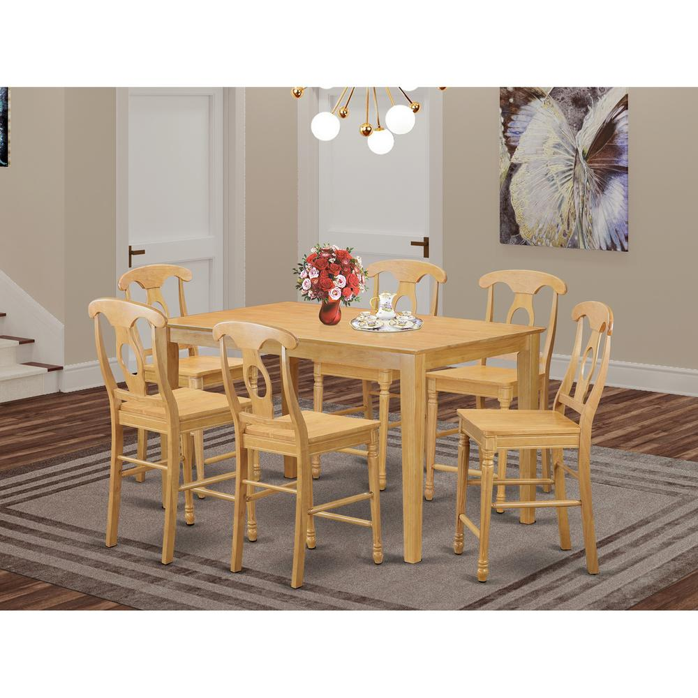 7 Pc Pub Table Set Pub Table And 6 Kitchen Dining Chairs