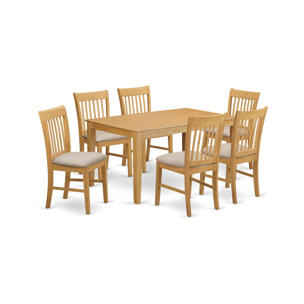 7 Pc Small Kitchen Table Set Dining