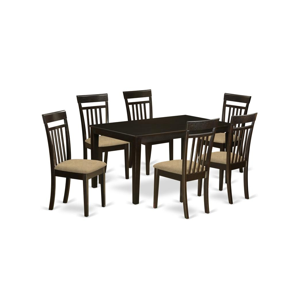 Formal Dining Room Sets For 6: 7 Pc Formal Dining Room Set -Table And 6 Dining Chairs