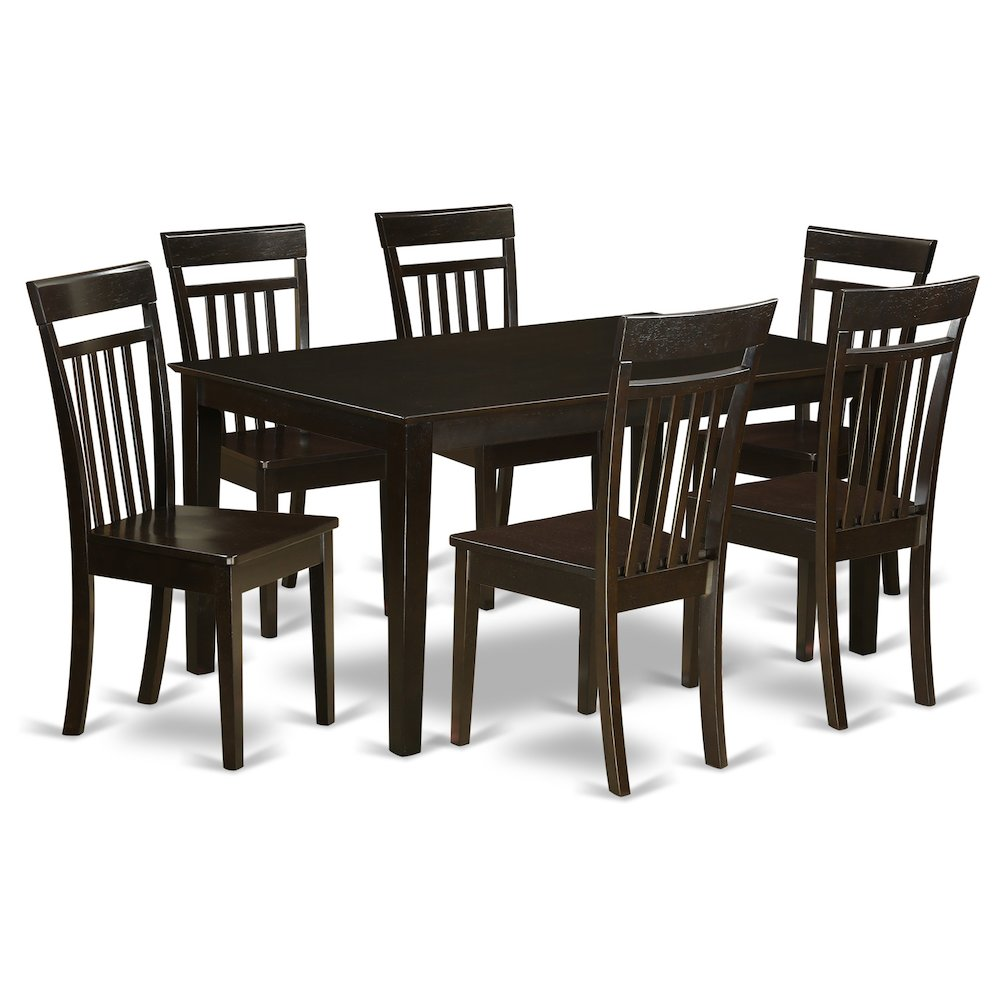 7  PC  Dining  room  set  for  6-Dining  room  Glass  Top  Table  and  6  Dining  Chairs. Picture 1