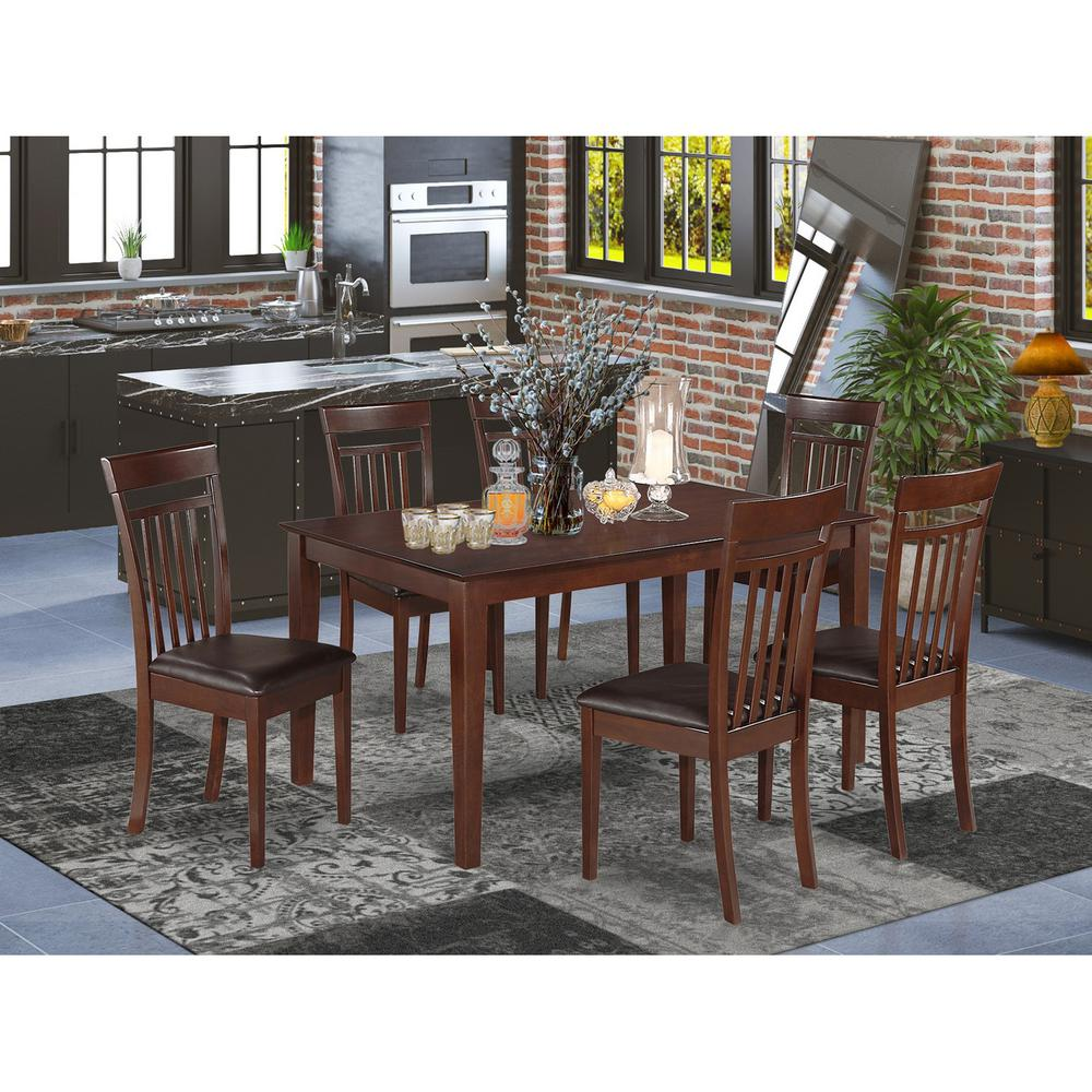 7 Pc Dining Room Sets: 7 PC Dining Room Set- Dinette Table And 6 Dining Chairs