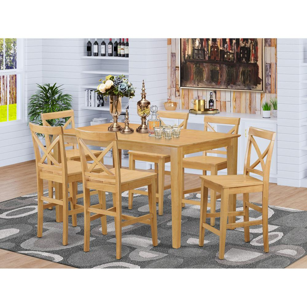 7 pc counter height table and chair set high top table for High top dinette sets