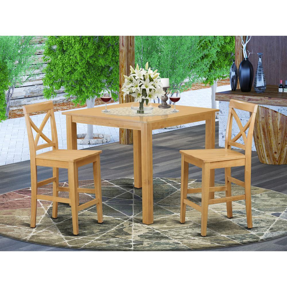 3  Pc  counter  height  Dining  room  set-pub  Table  and  2  bar  stools. Picture 1