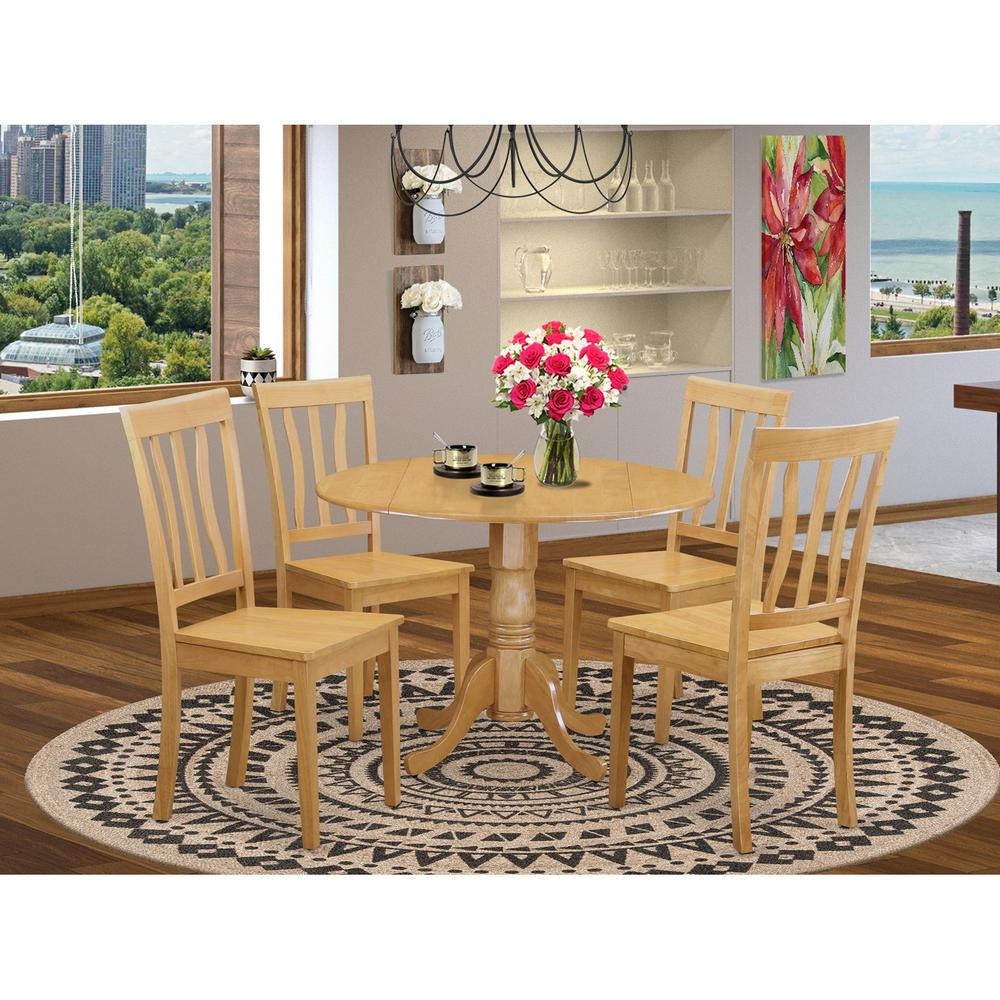5 pc dinette set dinette table and 4 kitchen chairs for Kitchen table set 4