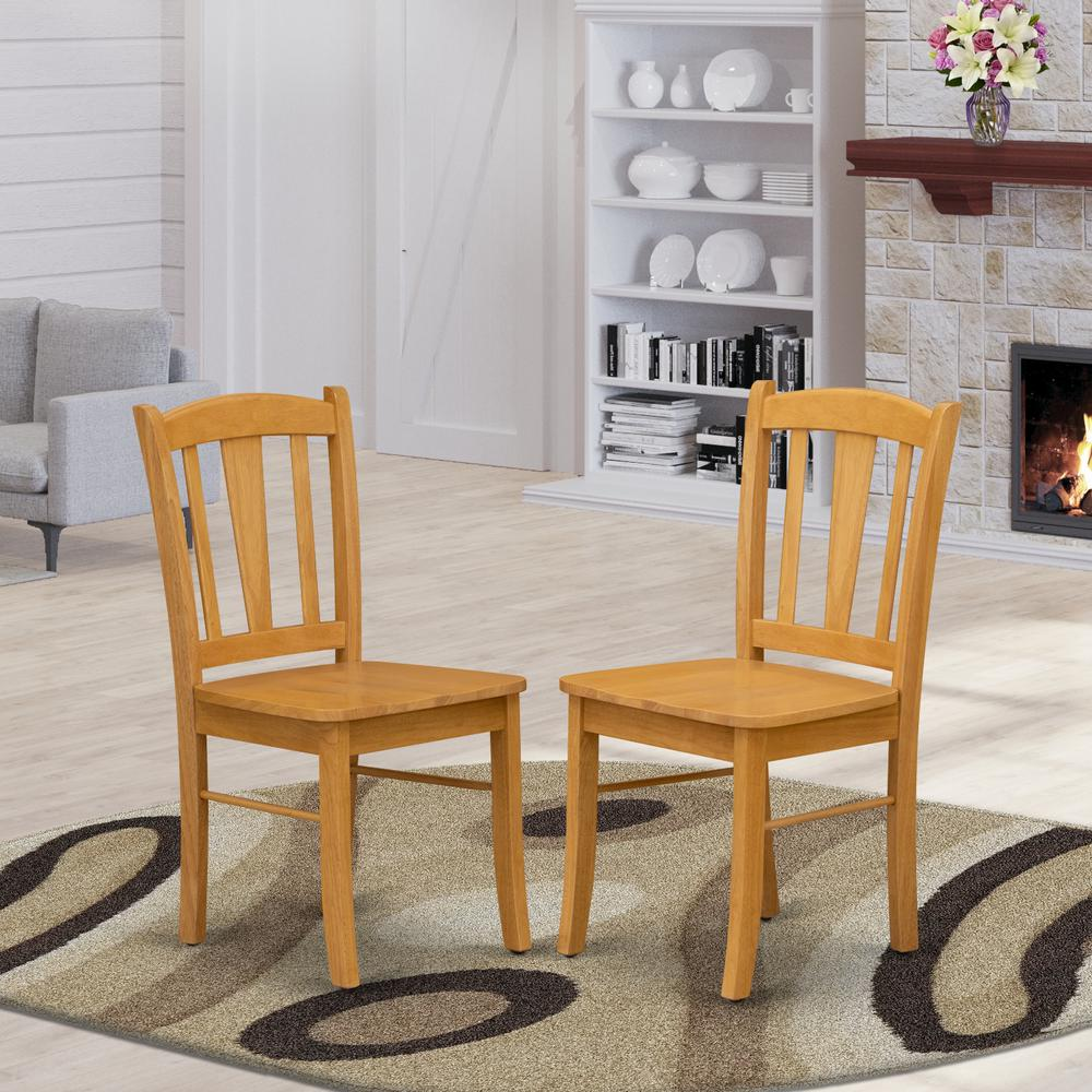 Dublin Metal Dining Chair: Dublin Dining Room Chair With Wood Seat, Set Of 2