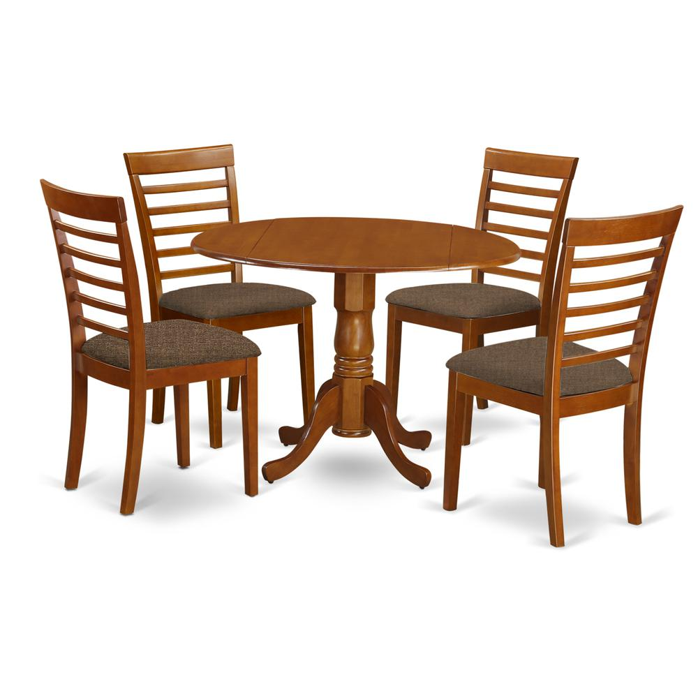 5 Pc Small Kitchen Table And Chairs Set Round Kitchen Table And 4 Kitchen Chairs