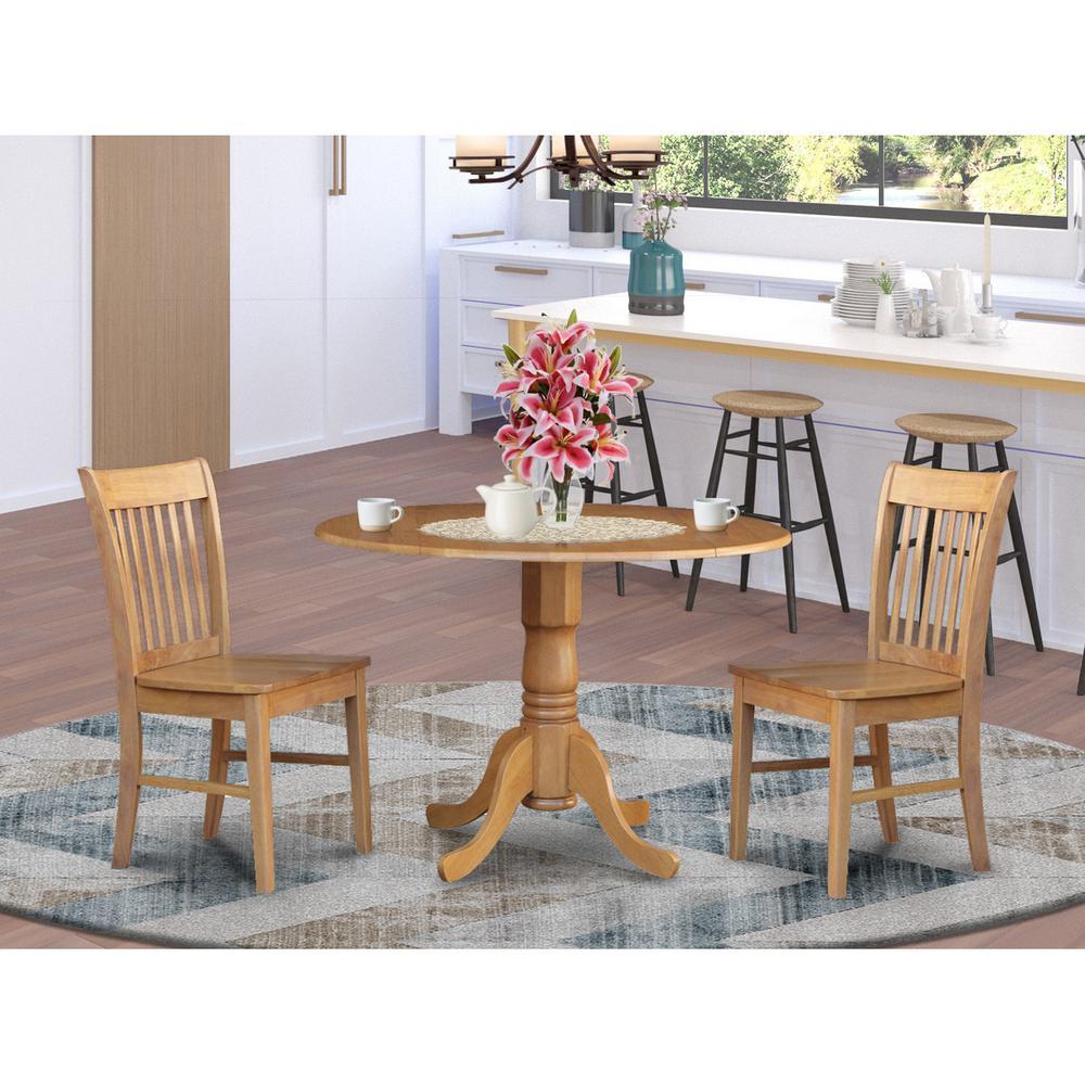 3 Pc Kitchen Nook Dining Set Round Kitchen Table Plus 2