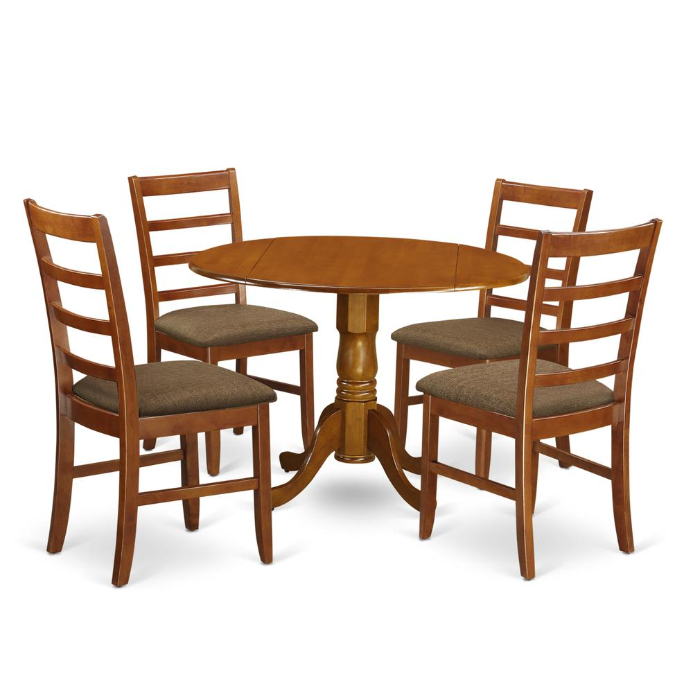 5 Pc Small Kitchen Table And Chairs Set-round Table And 4