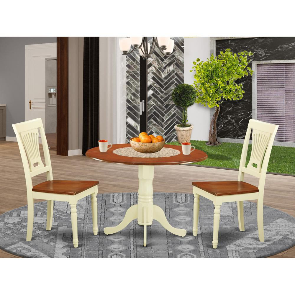 3 Pc Small Dining Set Dining Table And 2 Kitchen Chairs