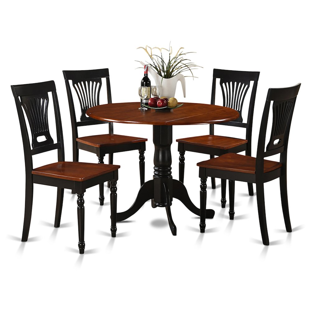 5  Pc  small  Kitchen  Table  and  Chairs  set-Table  and  4  dinette  Chairs. Picture 1
