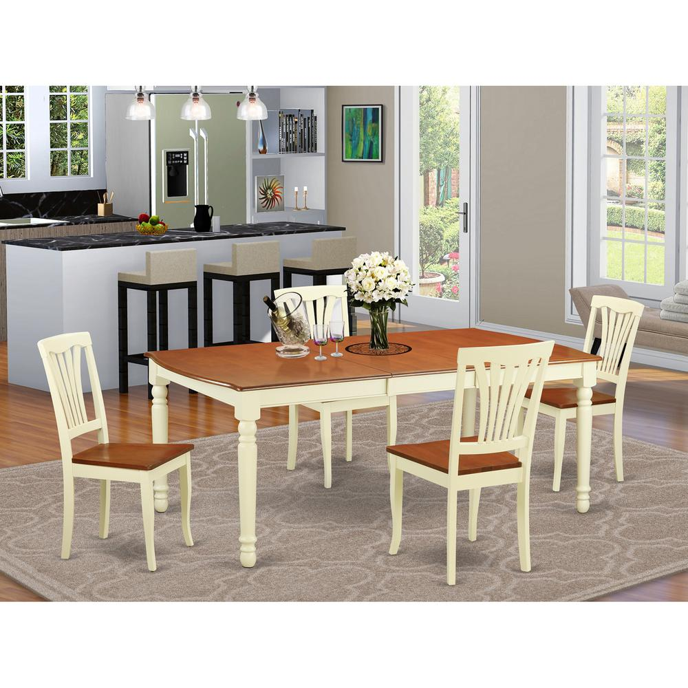 5  PC  dinette  Table  set  -  Kitchen  Table  and  4  Dining  Chairs. Picture 1