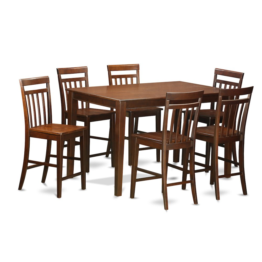 7 Pc Pub Table Set Counter Height