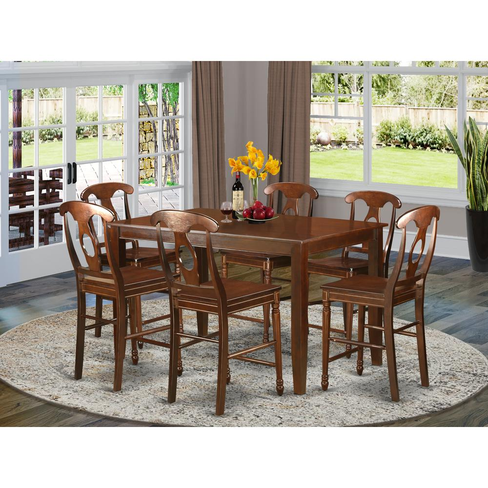 7 pc counter height pub set high top table and 6 dinette for High top dinette sets