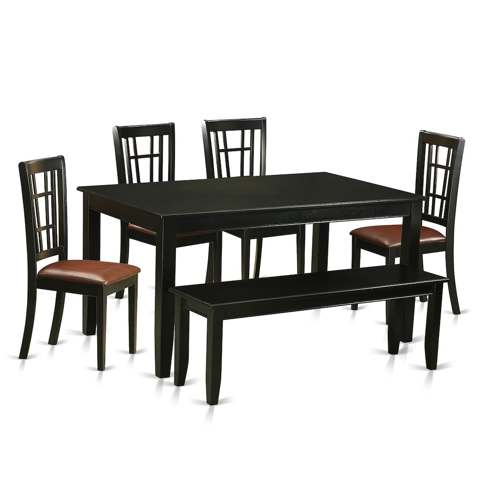 6 pc kitchen nook dining set kitchen table and 4 dining for Kitchen table set 6 chairs