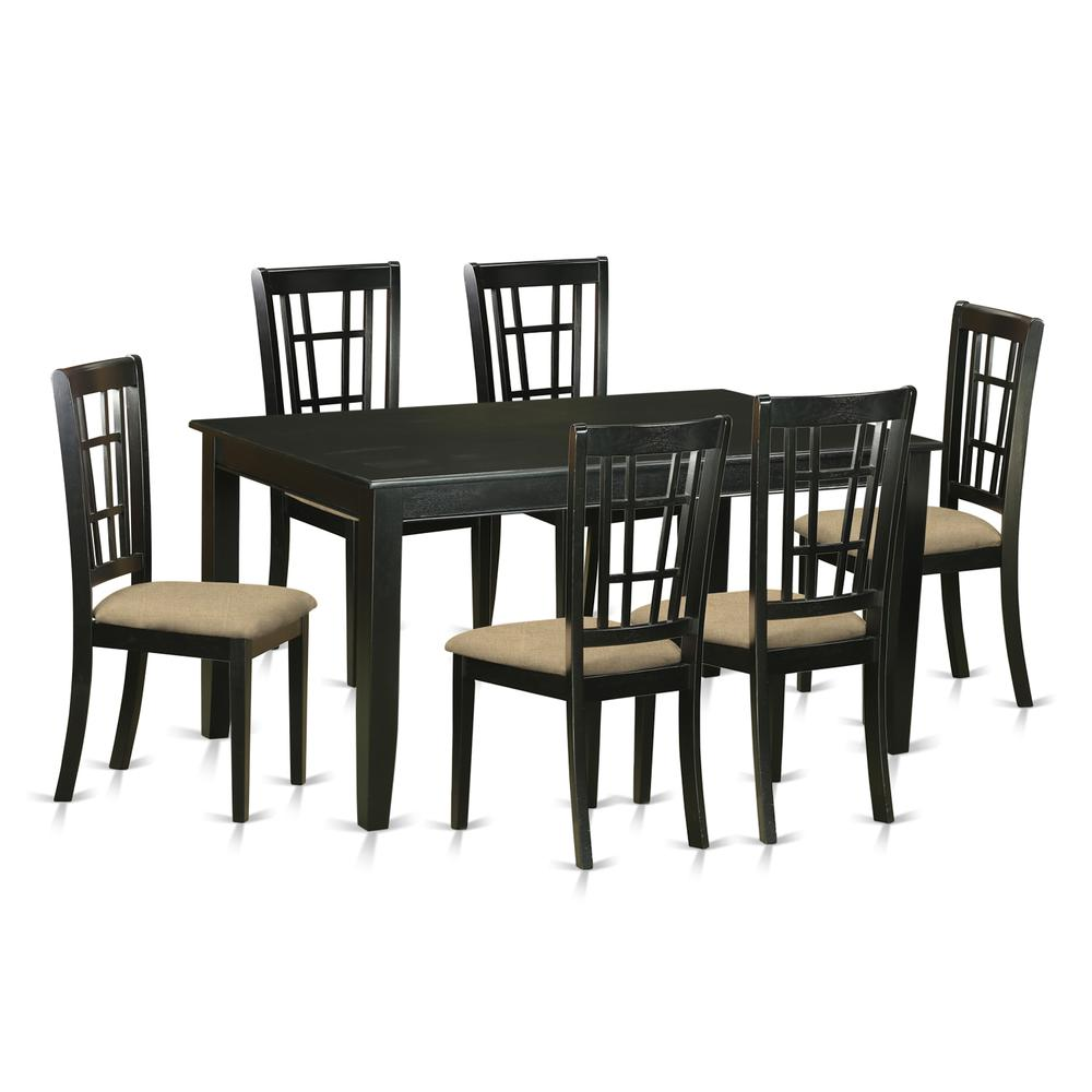 52 Kitchen Tables And Chairs Sets 7 Pc Dining Room: 7 Pc Dining Room Set -Kitchen Table And 6 Dining Chairs