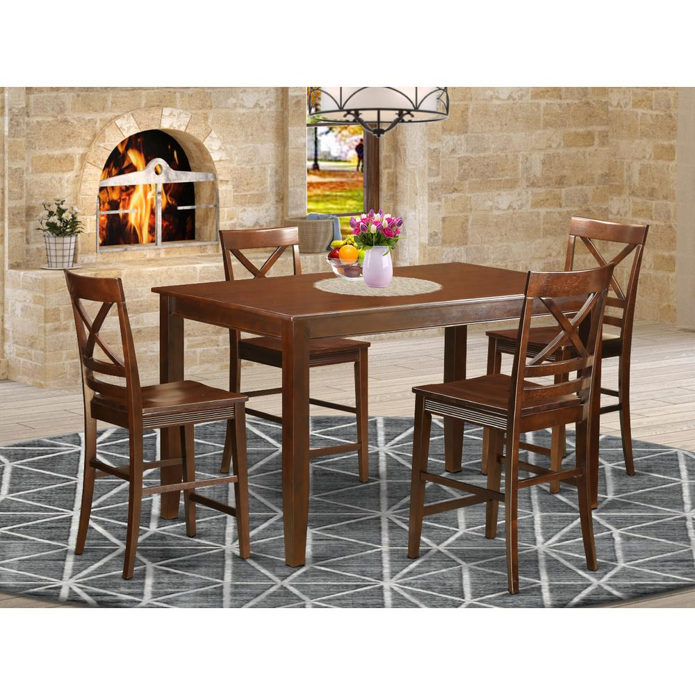 5 Pc Counter Height Pub Set Small Kitchen Table And 4