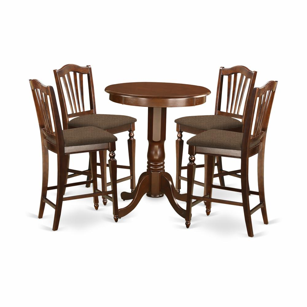 EDCH5-MAH-C 5 PC counter height set - high Table and 4 Dining Chairs.. Picture 1