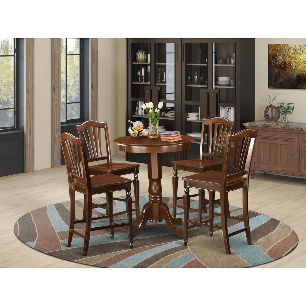 5  Pc  counter  height  set  -  high  top  Table  and  4  Kitchen  bar  stool.. Picture 1