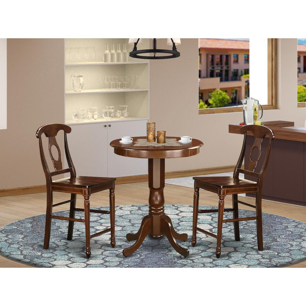 3  Pc  Dining  counter  height  set  -  Dining  Table  and  2  counter  height  stool.. Picture 1