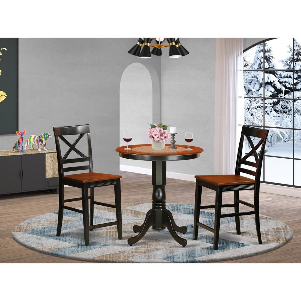 3  PC  counter  height  Table  and  chair  set  -  Dining  Table  and  2  counter  height  stool.. Picture 1