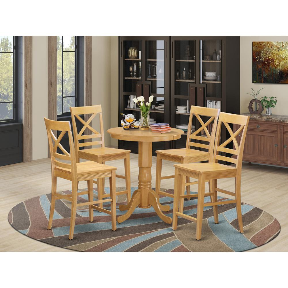 5 Pc Counter Height Pub Set Dining Table And 4 Kitchen
