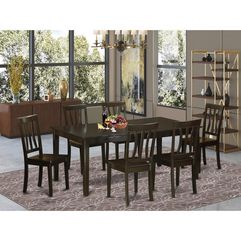 52 Kitchen Tables And Chairs Sets 7 Pc Dining Room: 7 Pc Formal Dining Room Set-Table With Leaf And 6 Kitchen