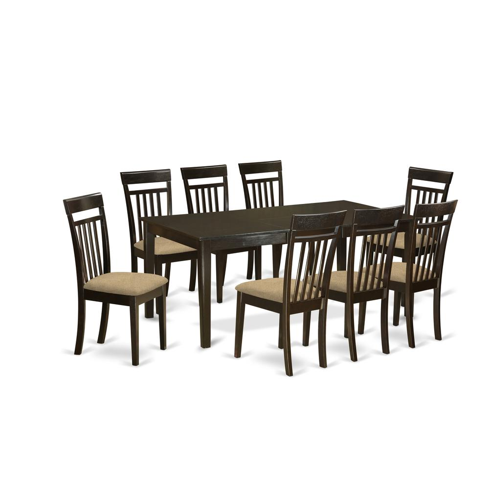 9 Piece Formal Dining Room Sets: 9 PC Dining Room Set-Table With Leaf And 8 Dining Chairs