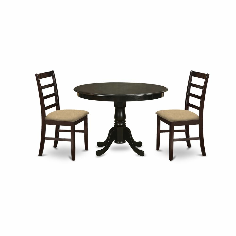 Round Kitchen Table And Chairs Set: 3 Pc Kitchen Nook Dining Set-round Kitchen Table And 2