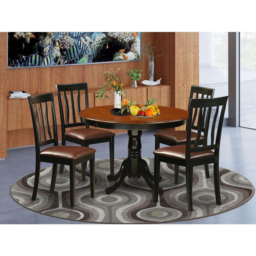 5 Pc Set With A Round Dinette Table And