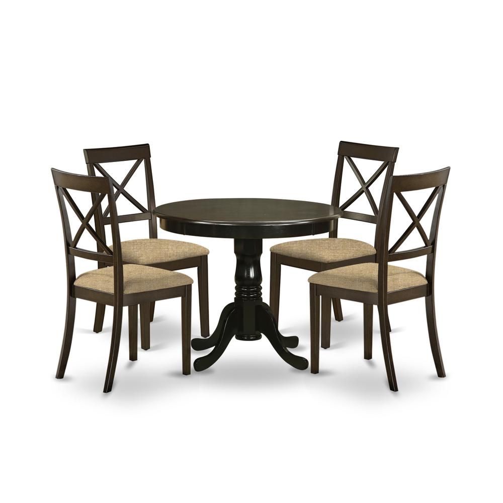 5 Pc small Kitchen Table and Chairs set-Kitchen Table and 4 Chairs