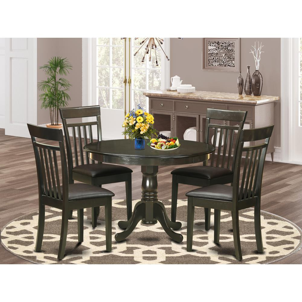 5  PC  small  Kitchen  Table  set-small  Table  and  4  Kitchen  Chairs.. Picture 1