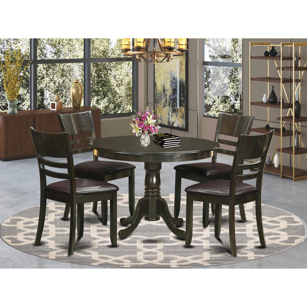 5 Pc Small Kitchen Table And Chairs Set Dining Table And 4 Dinette Chairs