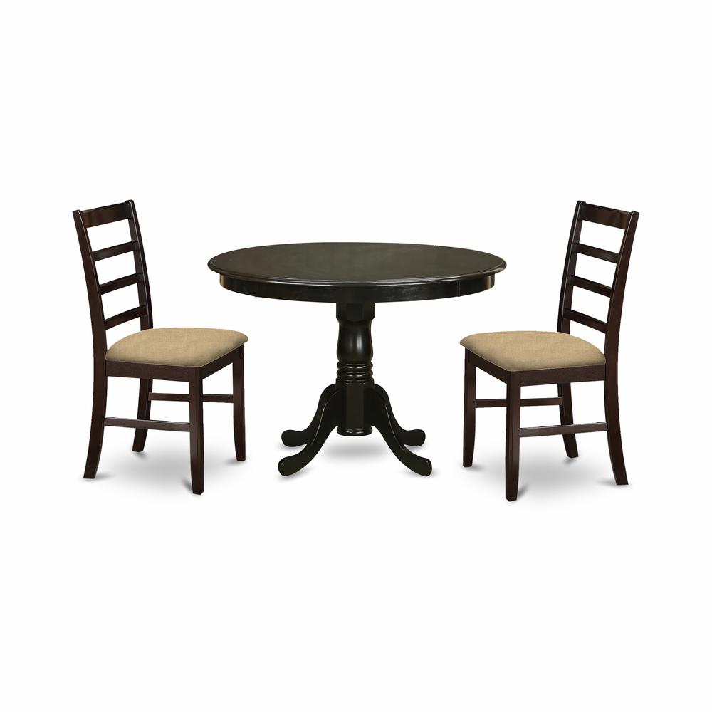 HLPF3-CAP-C 3 Pc small Kitchen Table set-Dining Table and 2 Dinette Chairs.. The main picture.