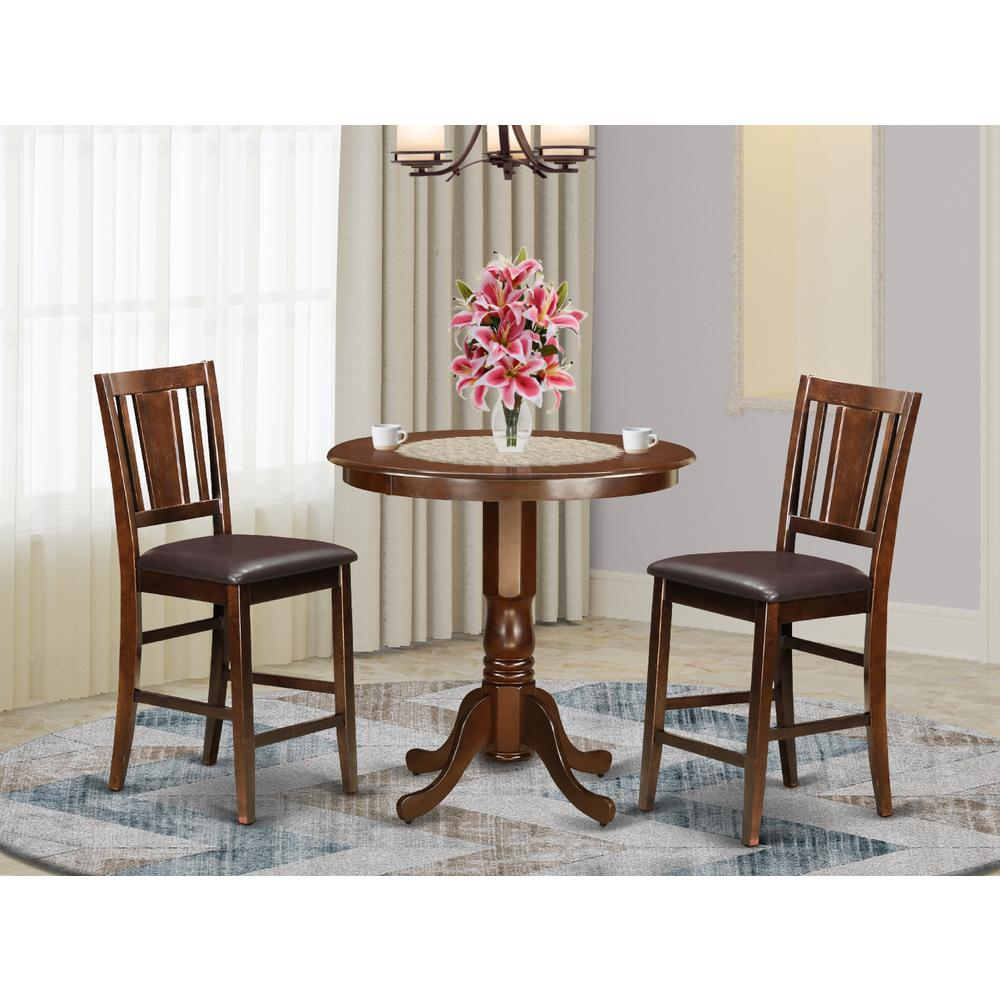 3 pc counter height set high table and 2 dining chairs. Black Bedroom Furniture Sets. Home Design Ideas
