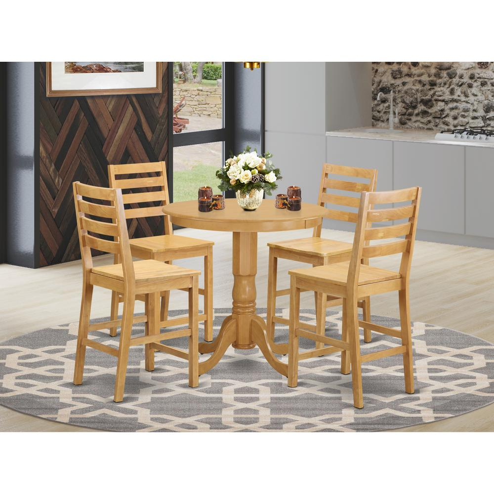 5 pc dining counter height set pub table and 4 dining chairs. Black Bedroom Furniture Sets. Home Design Ideas