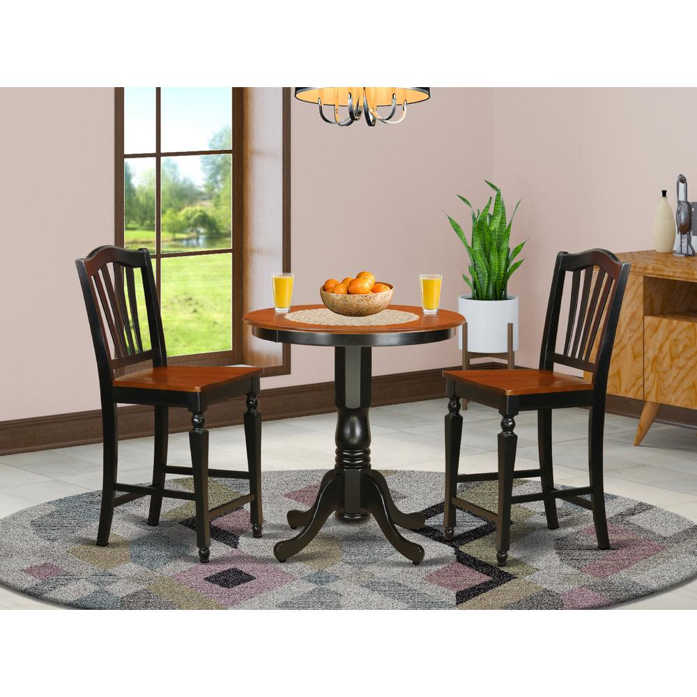 3  Pc  counter  height  Dining  set-pub  Table  and  2  Dining  Chairs.. Picture 1