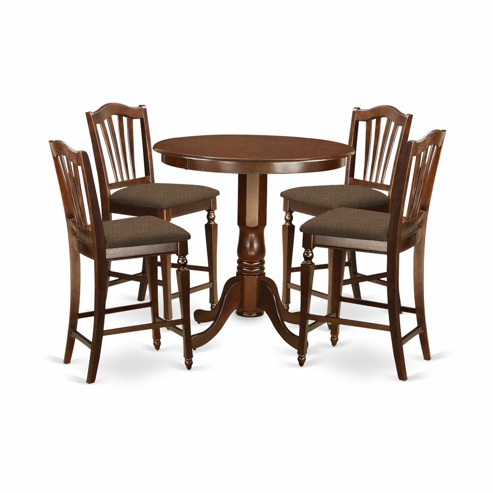 5 pc counter height dining room set high table and 4 kitchen chairs. Black Bedroom Furniture Sets. Home Design Ideas
