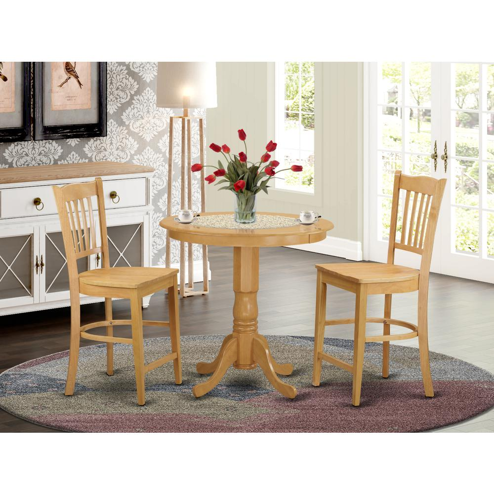 3  Pc  counter  height  Dining  room  set  -  high  top  Table  and  2  bar  stools.. Picture 1